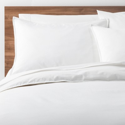 White Easy Care Solid Duvet Cover Set (Full/Queen)- Made By Design™