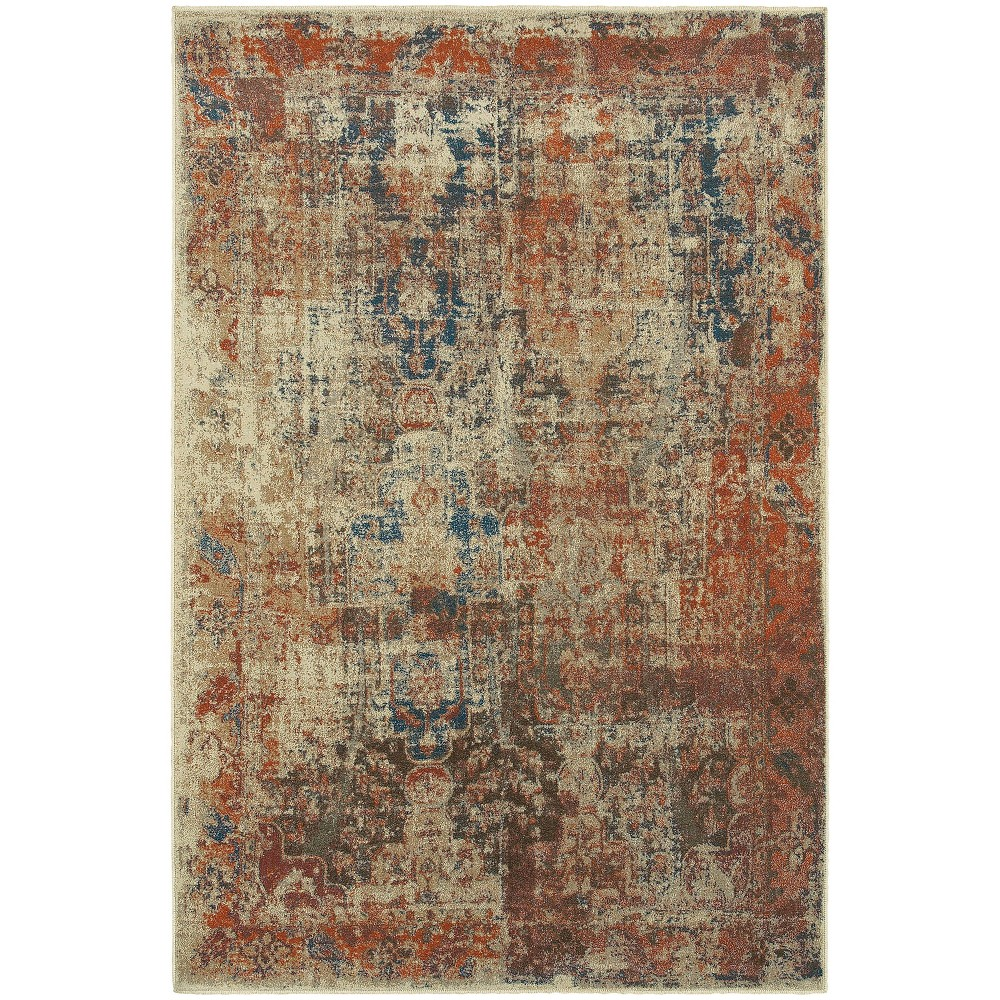Pierce Distressed Rug Beige