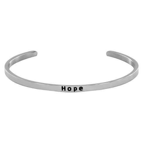 Stainless Steel Hope Cuff Bracelet