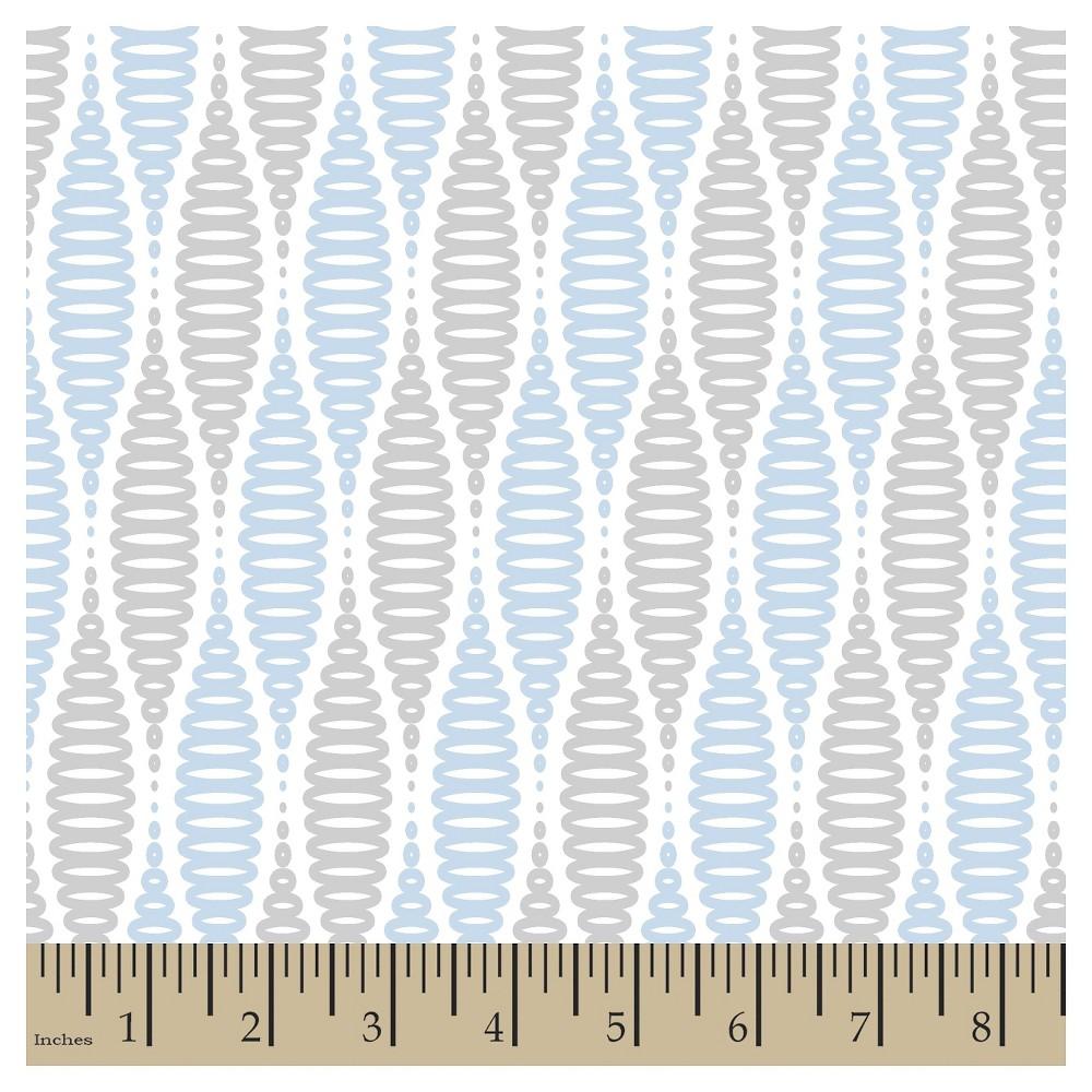 Jack Coil Blue Cotton Fabric