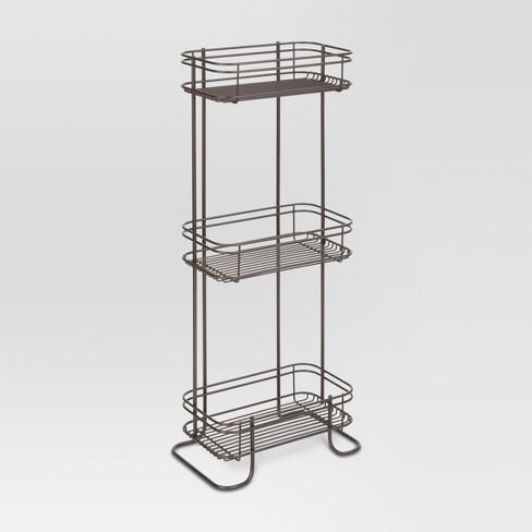 3 Tier Bathroom Storage Shelves Bronze Threshold