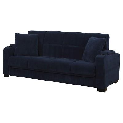 susan velvet convert a couch storage arm futon sofa sleeper handy rh target com