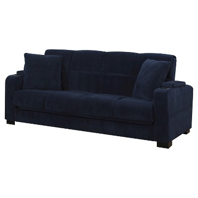 Perfect Susan Velvet Convert A Couch Storage Arm Futon Sofa Sleeper   Handy Living