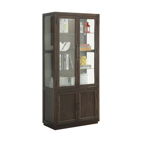 Acme Furniture Alanus Curio Cabinet Walnut Brown - image 1 of 4