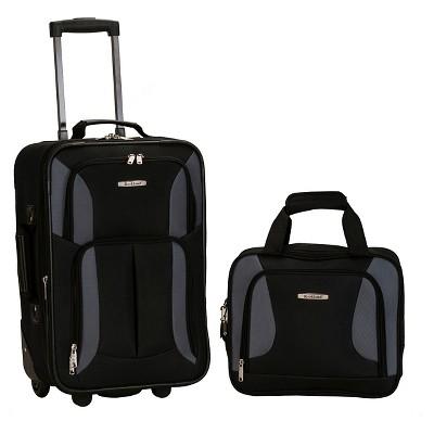 Rockland Fashion 2pc Luggage Set