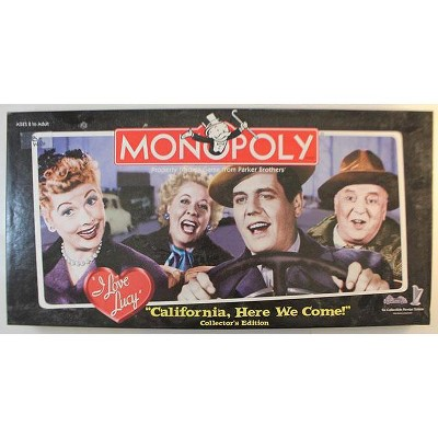 """Monopoly - I Love Lucy """"California Here We Come"""" Collector's Edition Board Game"""