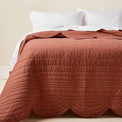 King Scalloped Edge Quilt Light Terracotta - Opalhouse™ designed with Jungalow™