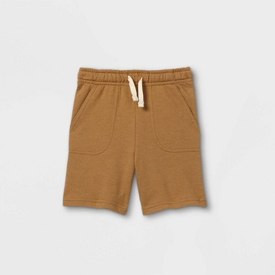 Toddler Boys' Knit Pull-On Shorts - Cat & Jack™ Brown 12M