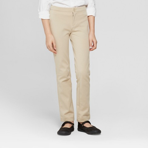 cb58f917134 Girls  Skinny Ponte Uniform Trousers - Cat   Jack™   Target