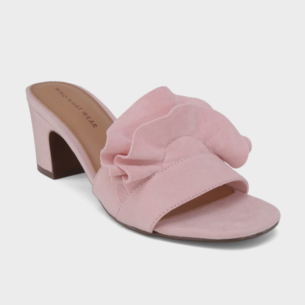 Women's Zadie Heeled Slide Sandals - Who What Wear Blushing 11