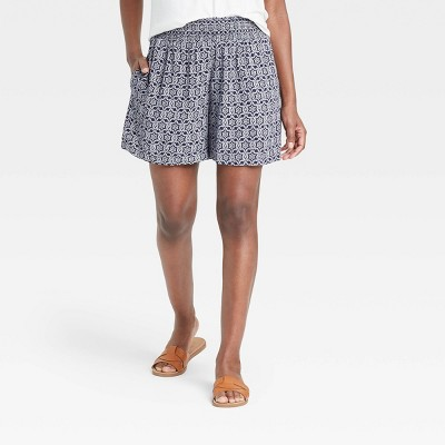 Women's Printed Smocked Waist Pull-On Shorts - Knox Rose™