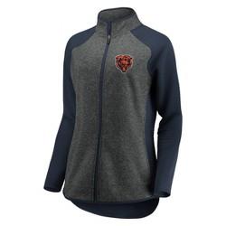 NFL Chicago Bears Women's Draft Leader Zip-Up Fleece Sweatshirt - Gray
