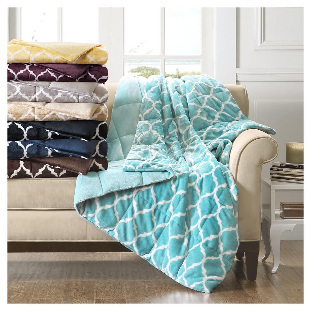 Black Geometric Throw Blankets (