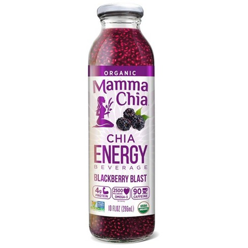 Mamma Chia Organic Vegan Blackberry Blast Chia Energy Beverage - 10 fl oz - image 1 of 3