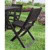 4pk Eucalyptus Folding Chairs Black - Merry Products - image 4 of 4