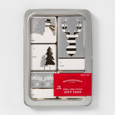 75ct Peel & Stick Silver Accent Gift Tag Set - Wondershop™ - image 1 of 1