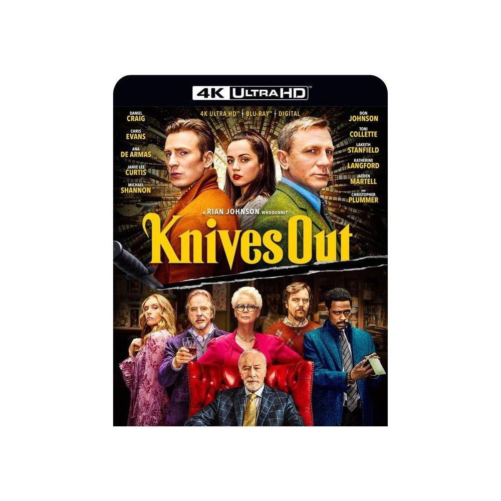 Knives Out (4K/UHD), Movies was $24.99 now $15.0 (40.0% off)