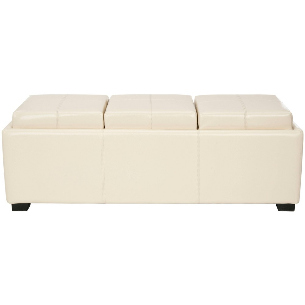 Harrison Triple Tray Ottoman Flat Cream (Ivory) - Safavieh