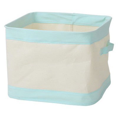 Collapsible Canvas Bin Small Aqua - Pillowfort™