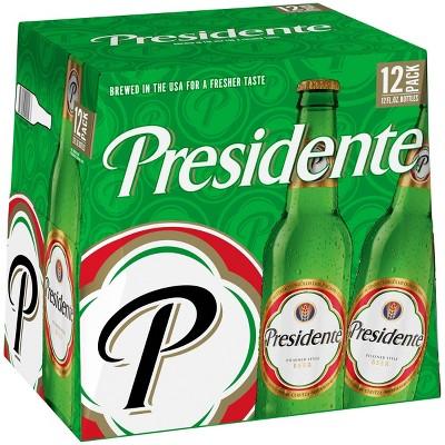 Presidente Pilsner Style Beer - 12pk/12 fl oz Bottles