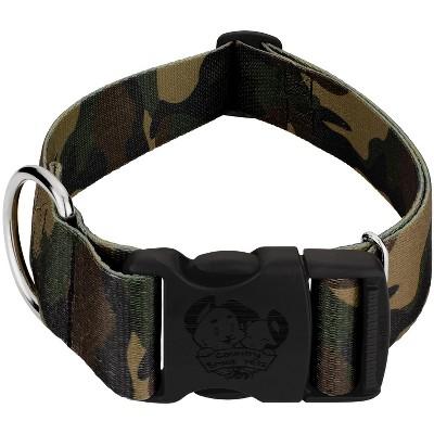 Country Brook Petz® 1 1/2 Inch Deluxe Woodland Camo Dog Collar