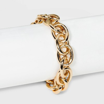 Metal Chain Link Bracelet - A New Day™ Gold