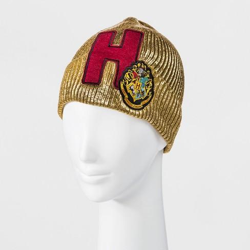 1d0eb97f664 Men s Harry Potter Hogwarts House Beanie - Gold   Target