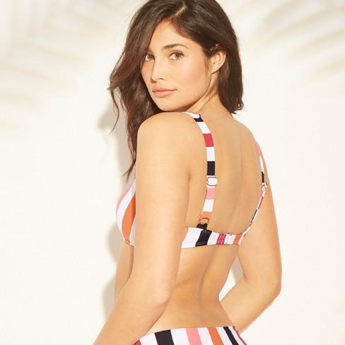 6b0e3d8342 Women s Bralette Bikini Top - Sunn Lab Swim Multi Stripe M   Target