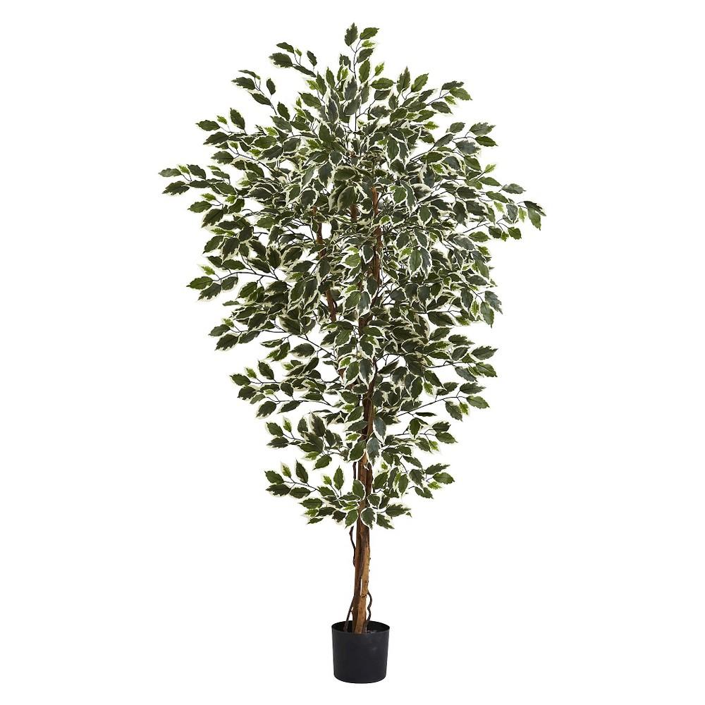 Nearly Natural 6' Hawaiian Ficus Tree, Green