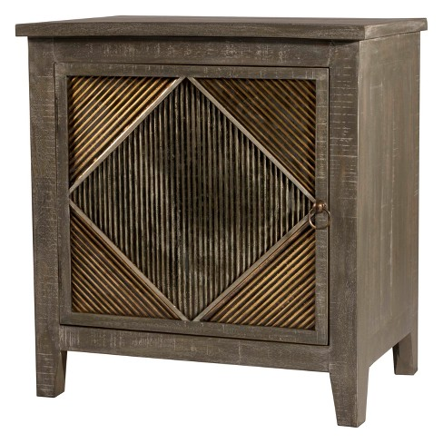 Bayshore End Table / Nightstand Distressed Graywash - Hillsdale Furniture - image 1 of 3