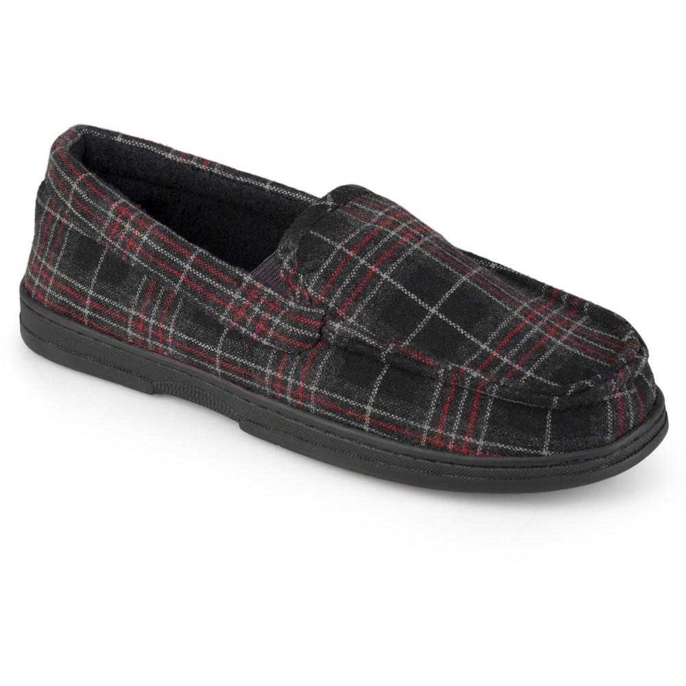 Men's Perry Ellis Portfolio Moccasin Slippers - Black Xxl(13), Size: Xxl (13)