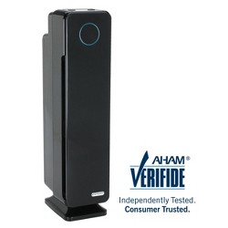 """Germ Guardian AC5300B Elite 3-in-1 True HEPA Air Purifier with UV Sanitizer and Odor Reduction, 28"""" Tower, Black"""