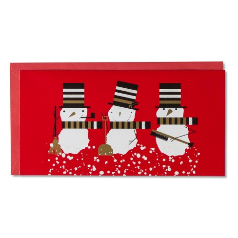 American Greetings 14ct Snowmen on Red Holiday Boxed Cards - image 1 of 1