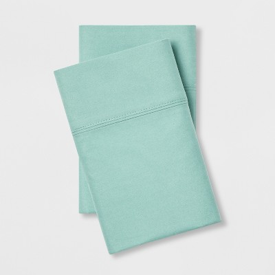 Standard 300 Thread Count Ultra Soft Pillowcase Set Aqua - Threshold™