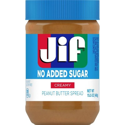 Jif No Added Sugar* Peanut Butter - 15.5oz