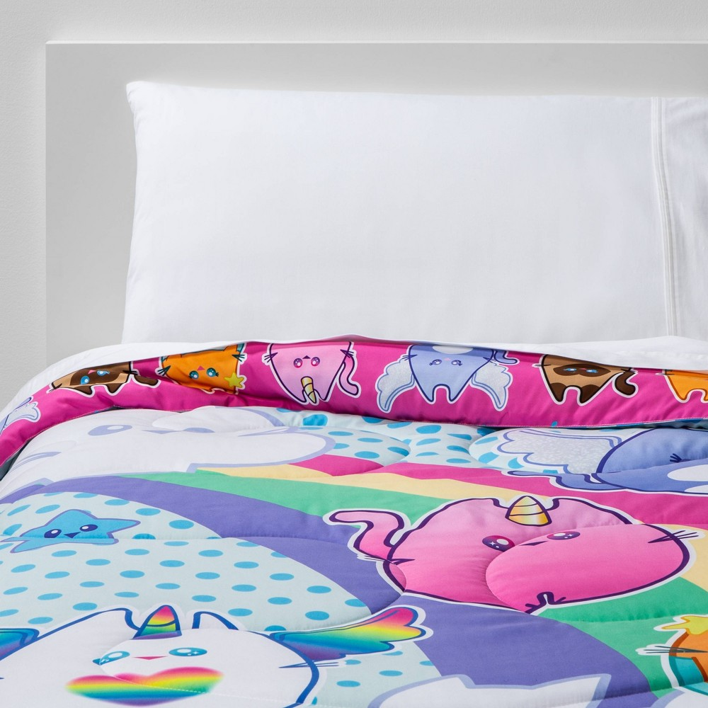 Image of Twin Meowgical Cat Life Reversible Comforter