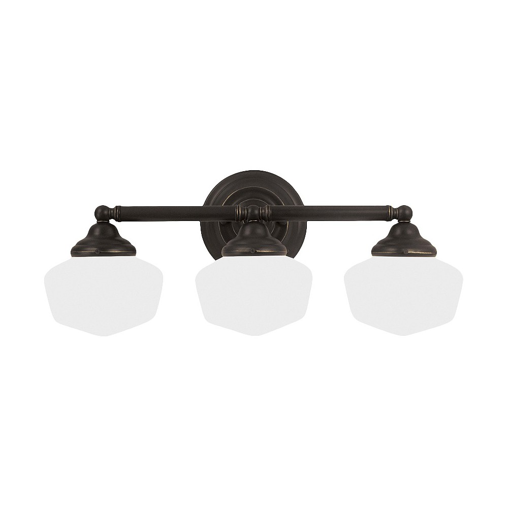 Image of Sea Gull Lighting Academy Three Light Bath Sconce - Heirloom Bronze