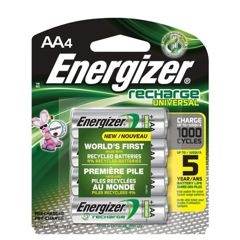Energizer Recharge Universal AA 4-PK - (UNH15BP-4) - image 1 of 1