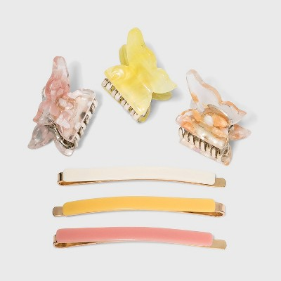 Butterfly Claws and Bobbie Pin Set 6pc - Wild Fable™