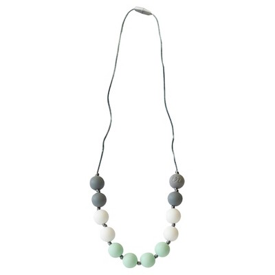 Itzy Ritzy Teething Happens™ Round Bead Petite Necklace - Mint