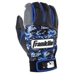 Franklin Sports Digitek Batting Glove Gray/Black/Royal Digi Adult