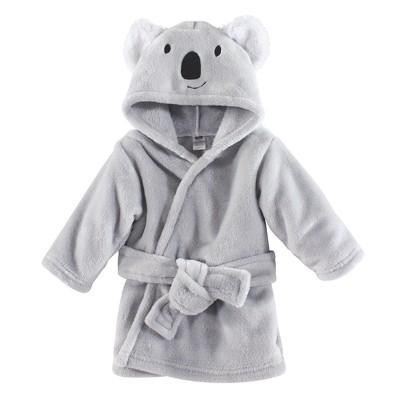 Hudson Baby Infant Plush Animal Face Bathrobe, Koala, 0-9 Months