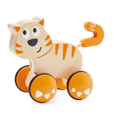 HAPE Wooden Toddler Wobble Kitten Push & Go