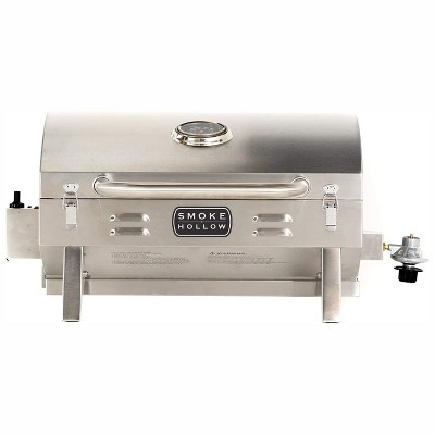Masterbuilt SH19030819 Propane Portable Tabletop Stainless Steel Outdoor Grill with 10,000 BTU Single Burner, Folding Legs, and Locking Lid