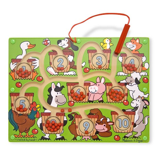 Melissa & Doug Magnetic Wand Number Maze - Wooden Puzzle Activity image number null