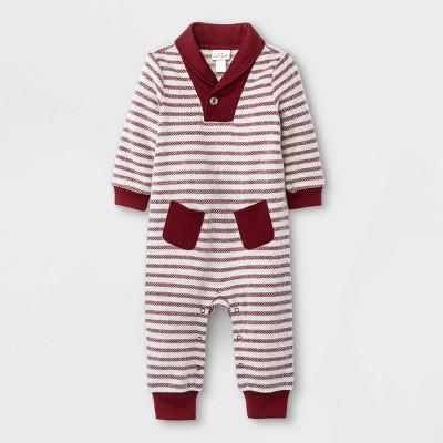 Baby Boys' Cozy Striped Cowl Neck Romper - Cat & Jack™
