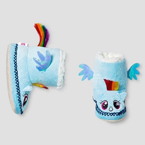 5d536fac595 Kids My Little Pony Slippers - Blue   Target