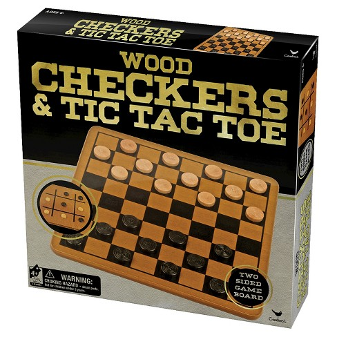 Wood Checkers and Tic-Tac-Toe Board Game - image 1 of 1