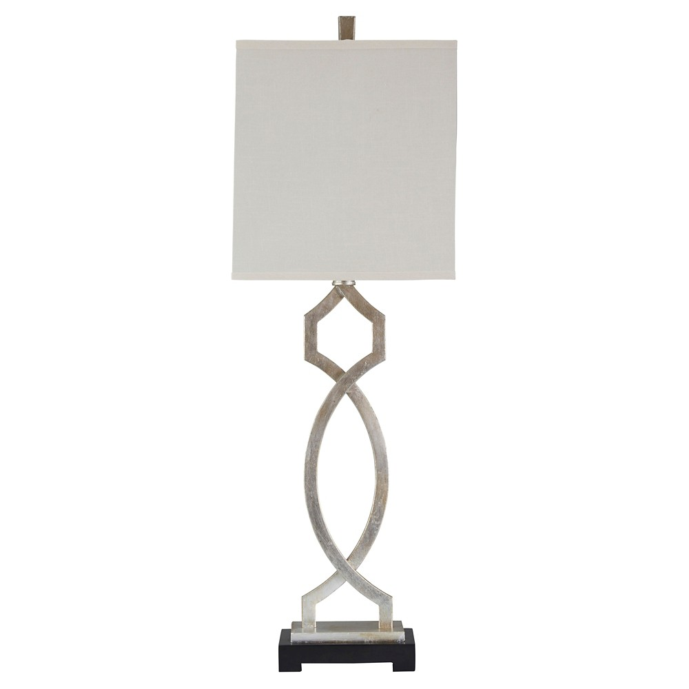 Taggert Table Lamp Silver Leaf (Lamp Only) - Signature Design by Ashley