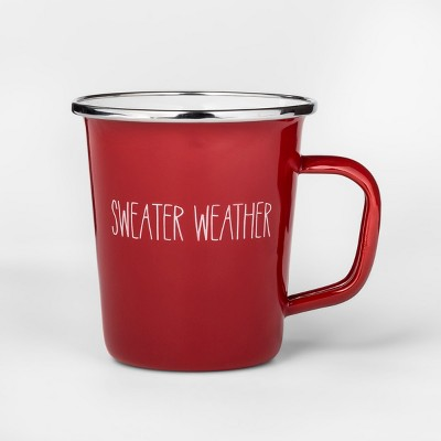 16oz Enamel Sweater Weather Mug Red - Project 62™